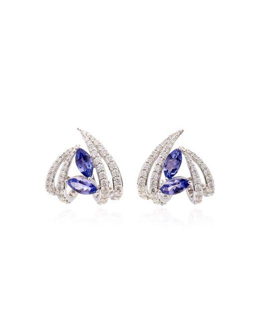 Hueb - Blue Exclusive 18k White Gold, Tanzanite And Diamond Earrings - Lyst