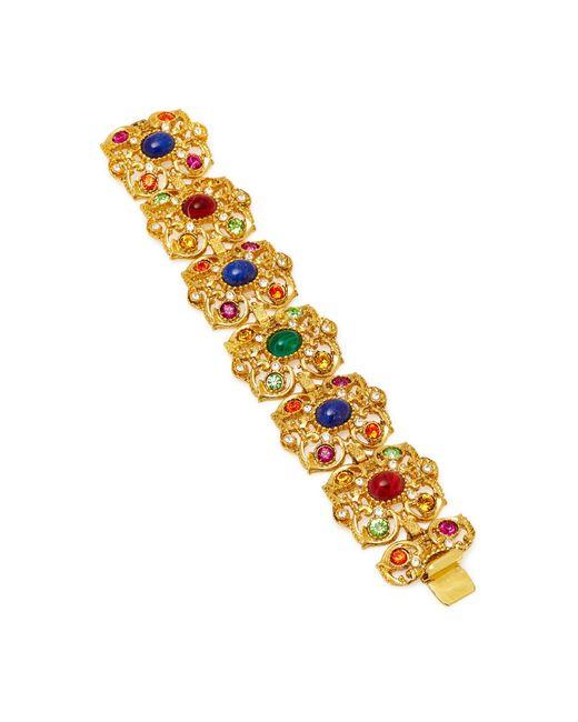 Ben-Amun | Metallic Gold-plated Crystal Bracelet | Lyst