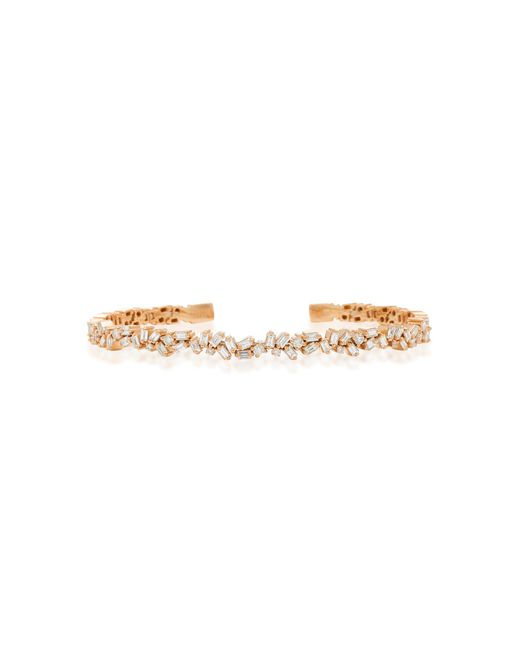 Suzanne Kalan - Pink 18k Rose Gold Diamond Bracelet - Lyst