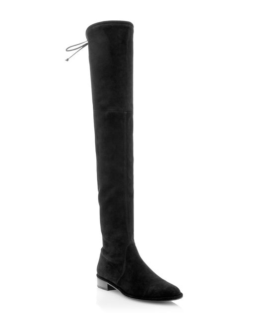 Stuart Weitzman | Black 'lowland' Over The Knee Boot | Lyst