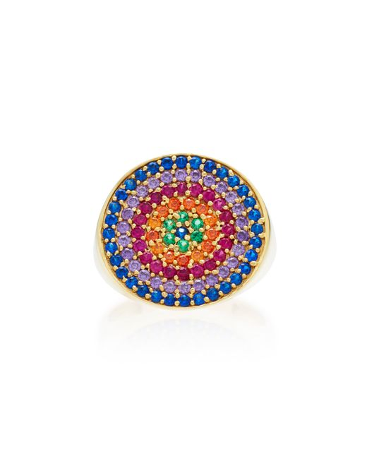 Joanna Laura Constantine | Metallic Gold-plated, Amethyst And Ruby Pinky Ring | Lyst