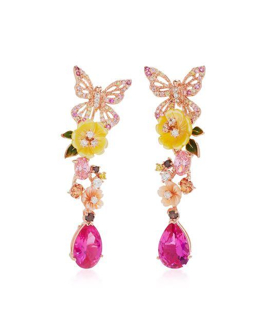 Anabela Chan - Pink Exclusive: Rose Vine Earrings - Lyst