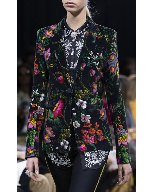 ea4f0b37 ... Paco Rabanne - Black Embroidered Satin Shirt - Lyst ...