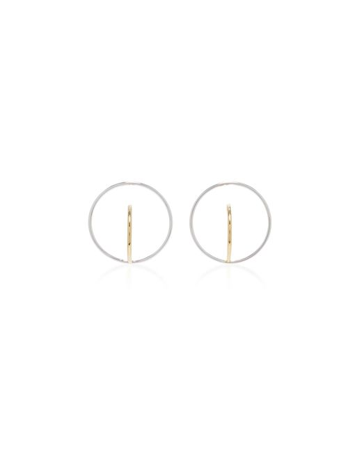 Charlotte Chesnais   Metallic Saturn Gold-dipped And Silver Earrings   Lyst