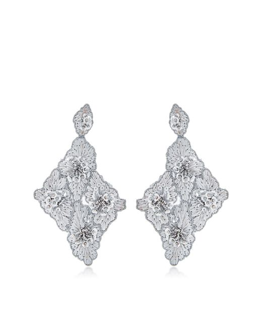 Johanna Ortiz | Metallic M'o Exclusive Floral Cluster Earrings | Lyst
