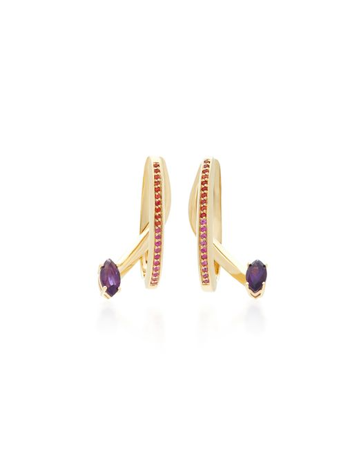Bea Bongiasca | Purple Tiger Lily Prosperity Specular Earrings | Lyst