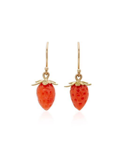 Annette Ferdinandsen   18k Gold Red Coral Strawberry Earrings   Lyst