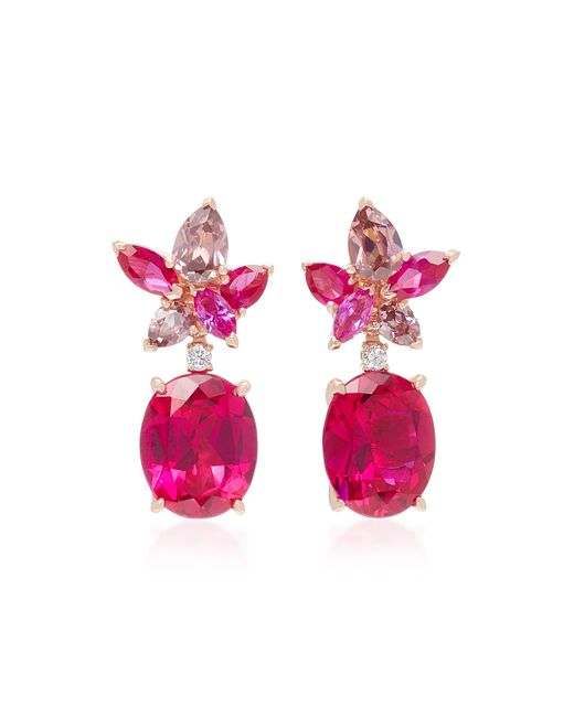 Anabela Chan - Red Exclusive Ruby Lily Earrings - Lyst