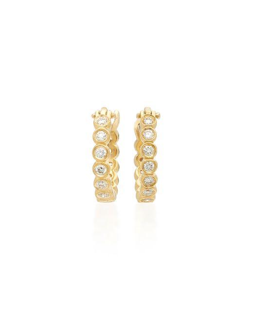 Octavia Elizabeth | Metallic Chloe 18k Gold Diamond Hoop Earrings | Lyst