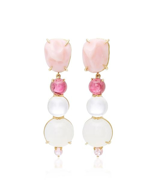 Daria de Koning | Pink Rosé All Day 18k Yellow Gold Multi-stone Earrings | Lyst
