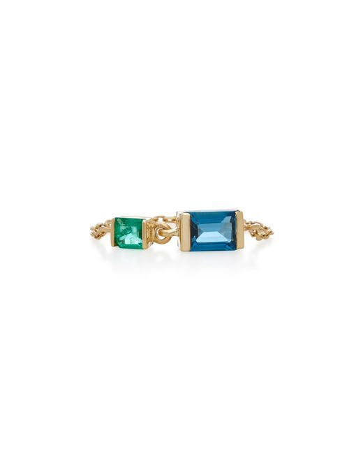Yi Collection | Green Freccia Medio Jade Rose Gold Earrings | Lyst