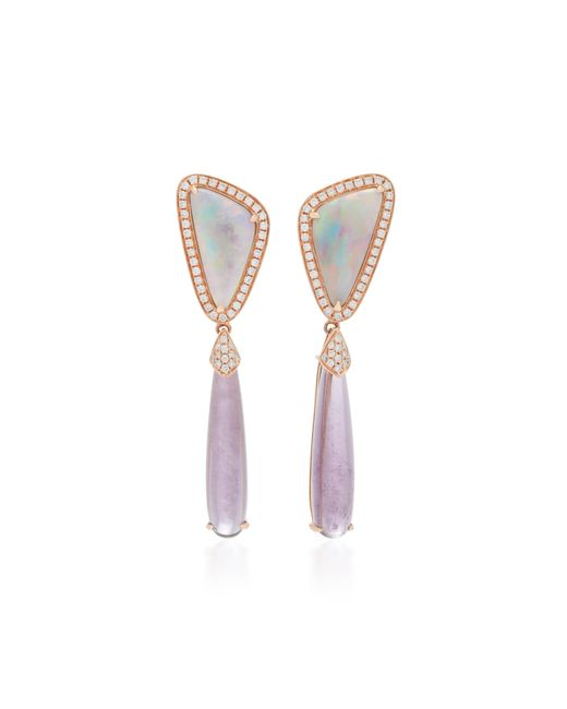 Dana Rebecca   Purple 14k White Gold Multi-stone Earrings   Lyst