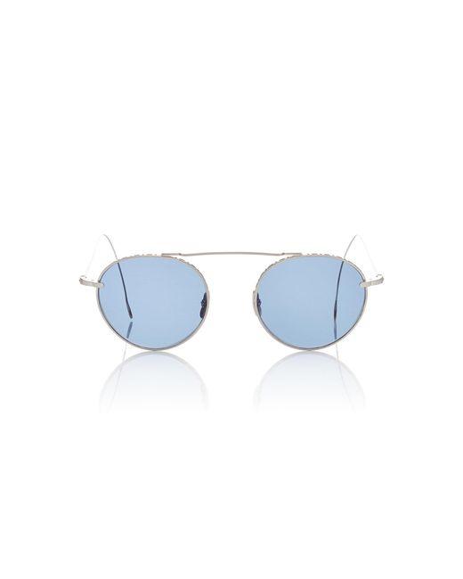 Mr. Leight - Blue Rei 49 Aviator-style Titanium Sunglasses - Lyst