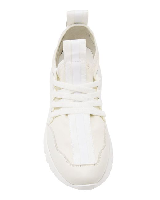 White Bise Trimmed Sneakers Lyst Leather In Neoprene Bally 64H0wqtwR