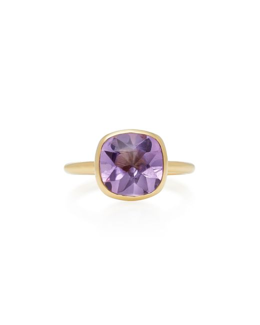 Daria de Koning | Purple Rumba 18k Yellow Gold And Amethyst Stacking Ring | Lyst