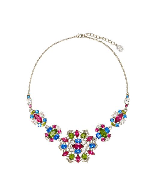 Ben-Amun | Multicolor Silver-tone Crystal Necklace | Lyst
