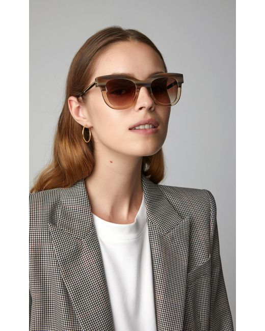 f05e939267 ... Thierry Lasry - Brown Sexxxy 341 Two-tone Cat-eye Sunglasses - Lyst ...
