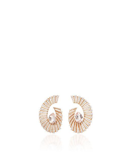Hueb - Metallic Labyrinth Morganite Earrings - Lyst