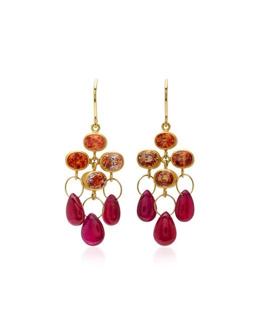 Mallary Marks | Metallic Ruby 18k Gold Multi-stone Earrings | Lyst