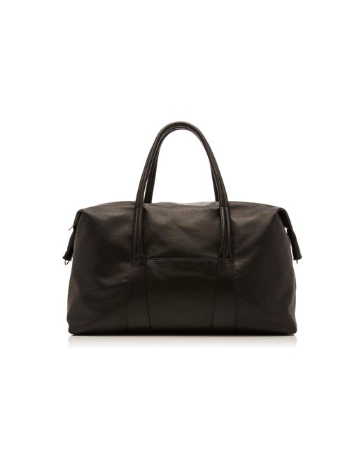 Maison Margiela - Black Large Leather Duffle Bag for Men - Lyst