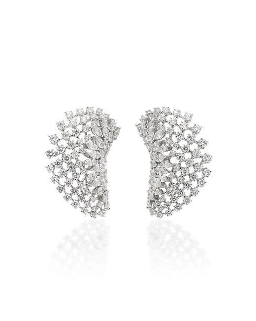 YEPREM - 18k White Gold Diamond Ear Cuffs - Lyst