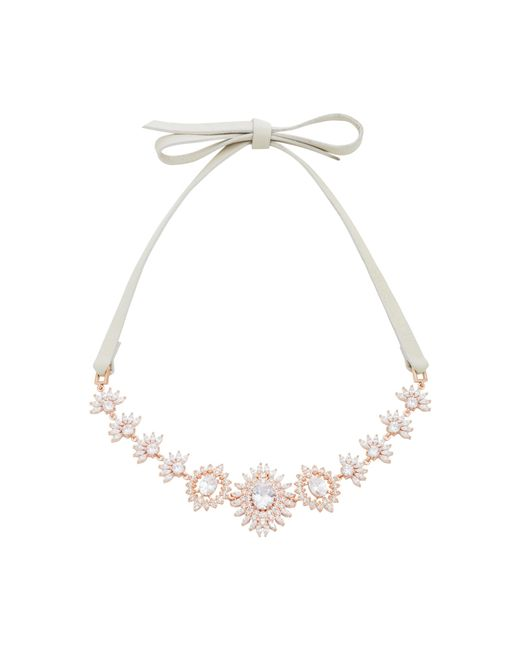 Fallon | Pink Monarch Eye Of Dana Crystal And Rose Gold-plated Choker | Lyst