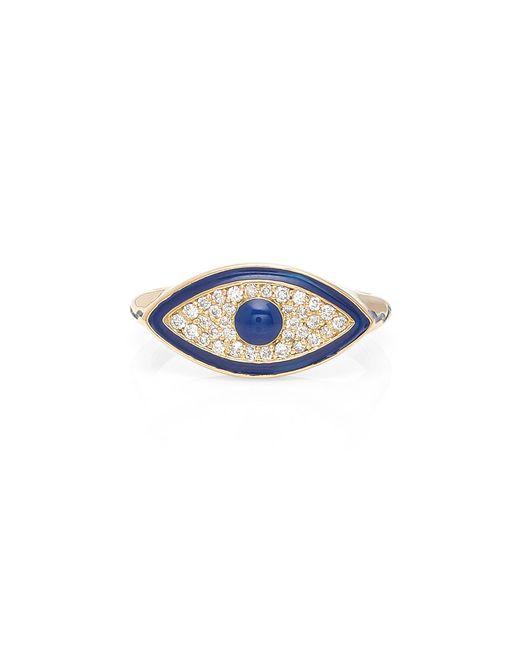 Misahara - Metallic Evil Eye 18k Gold Diamond Ring - Lyst