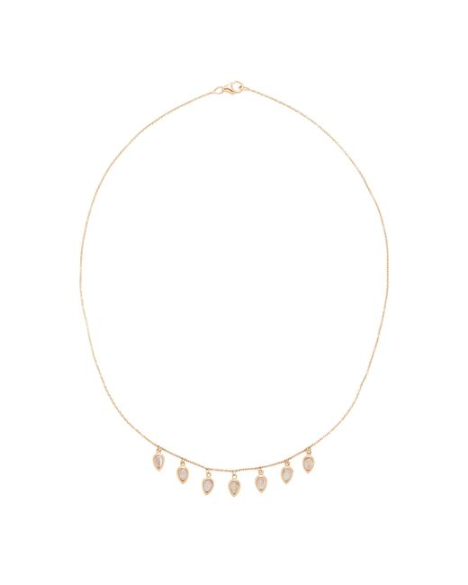 Misahara | Metallic Waterfall 18k Rose Gold Rainbow Moonstone Necklace | Lyst