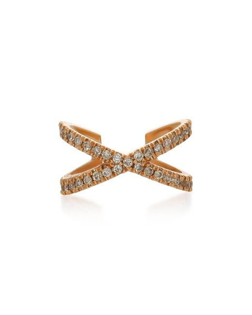 Eva Fehren - Metallic X Rose Gold And Diamond Earcuff - Lyst