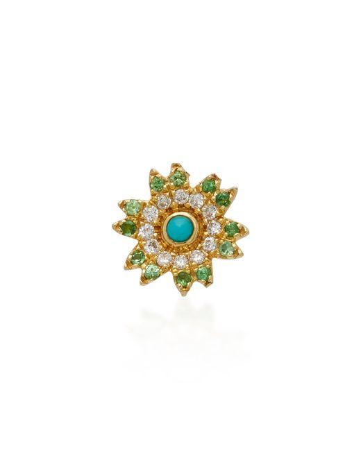 Yvonne Léon - Blue 18k Gold Multi-stone Stud Single Earring - Lyst