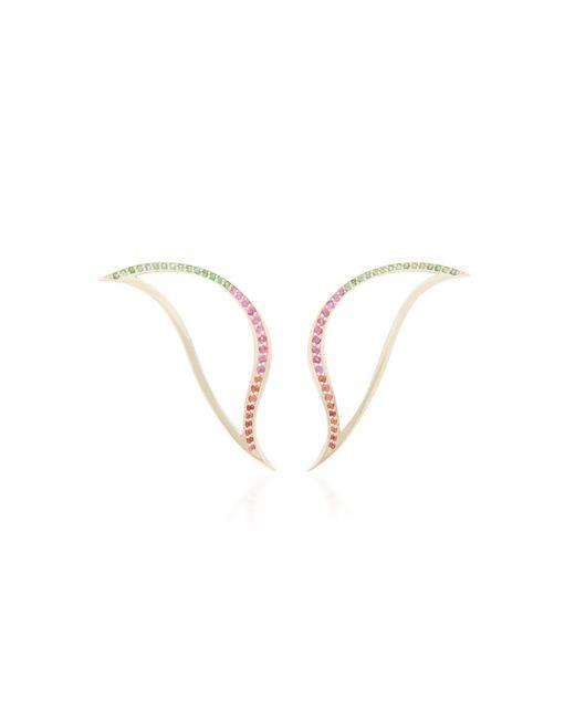 Bea Bongiasca - Metallic Heliconia 9k Gold Leaf Earrings - Lyst