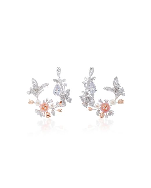 Anabela Chan - M'o Exclusive 18k White Gold Butterfly Garland Earrings - Lyst