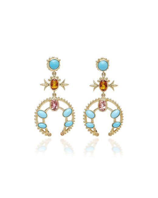 Marlo Laz - Metallic Squash Blossom Earrings - Lyst