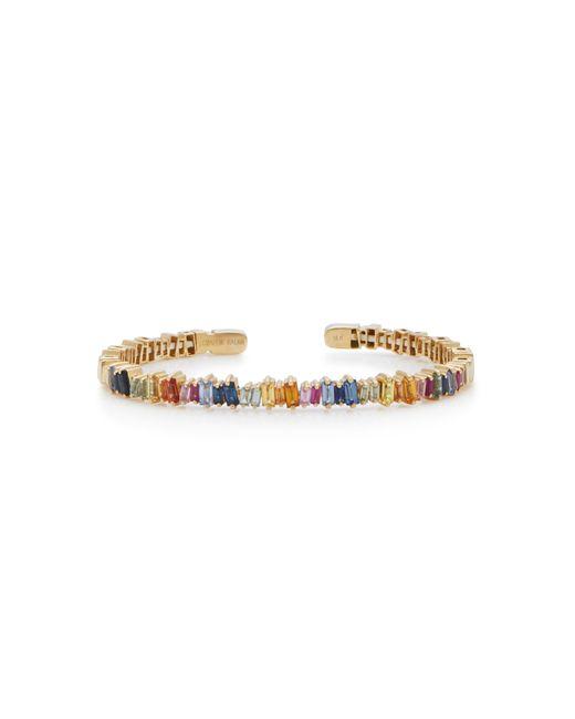 Suzanne Kalan - Metallic 18k Gold Rainbow Sapphire Bangle - Lyst