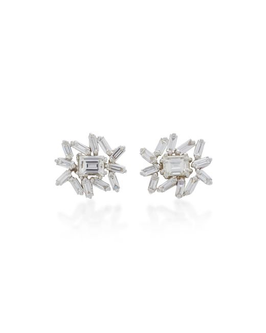 Suzanne Kalan | One Of A Kind White Gold Diamond Earrings | Lyst
