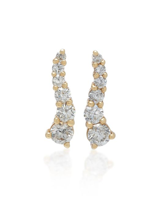 Lynn Ban - Metallic Larvae Yellow Gold And Diamond Earrings - Lyst