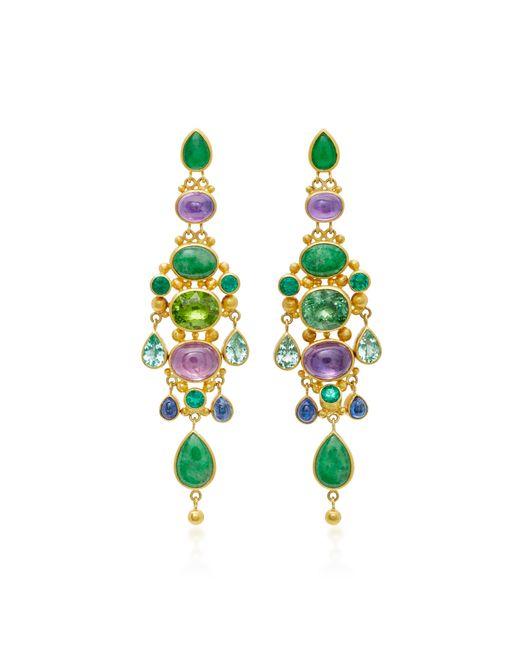 Mallary Marks   Green Chandelier Imperial Jade Earrings   Lyst