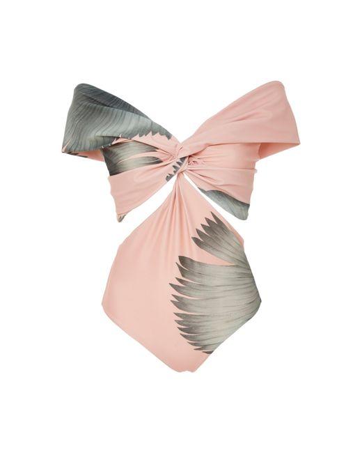 Johanna Ortiz - Multicolor Off-the-shoulder Printed Swimsuit - Lyst