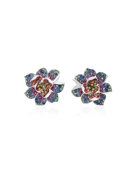 Colette | Blue 18k White Gold Multi-stone Earrings | Lyst