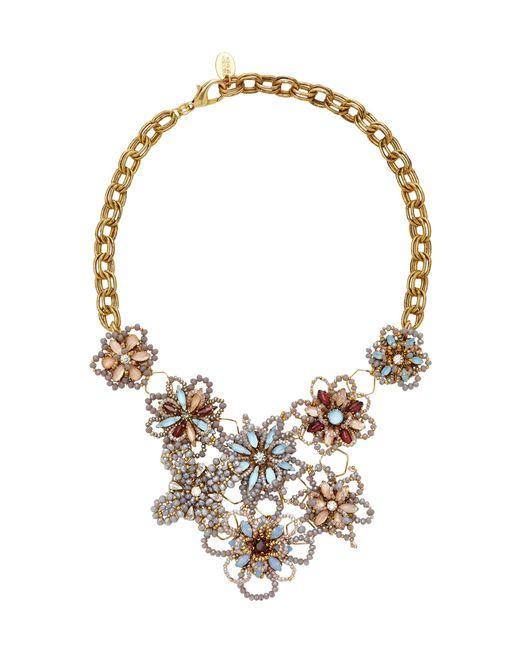 Erickson Beamon - Metallic Wild Flower Crystal Necklace - Lyst