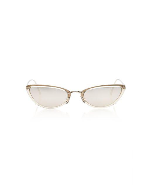 f8daca2aafe Linda Farrow - Metallic Acetate And Titanium Cat-eye Sunglasses - Lyst ...