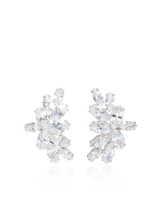 Fallon | Metallic Crescent Post Earrings | Lyst