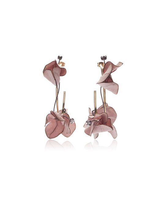 Marni | Pink Flower Drop Earrings | Lyst