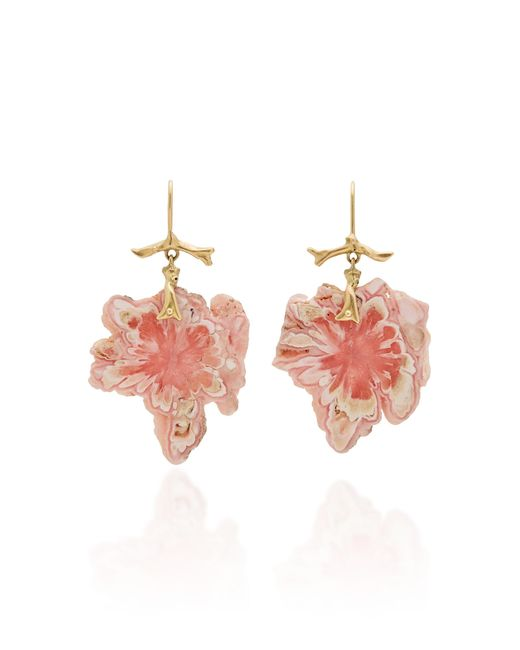 Annette Ferdinandsen - Pink M'o Exclusive: Rhodochrosite Snowflake Branch Earrings - Lyst