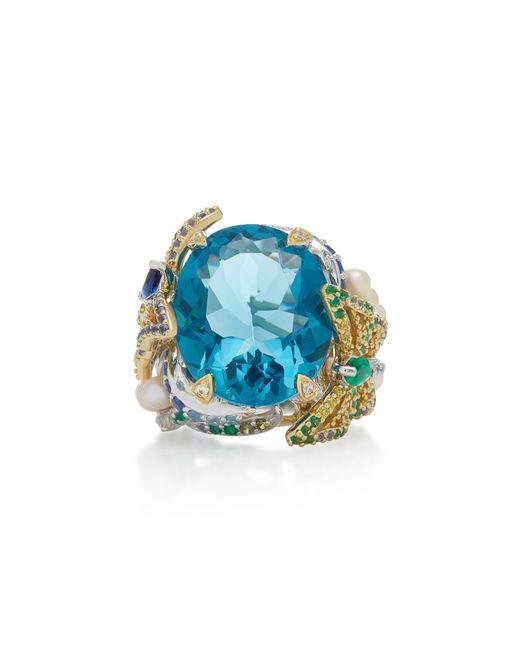 Anabela Chan - Blue Aquamarine Lilac 18k Gold Vermeil Multi-stone Ring - Lyst