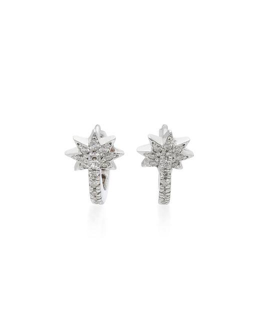 Colette | Metallic Mini Star Huggie 18k White Gold Diamond Earrings | Lyst