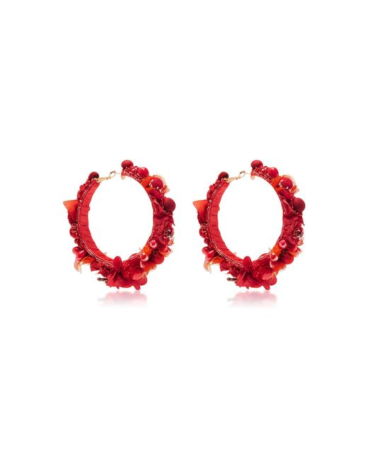 Ranjana Khan | Red Hoop Earrings | Lyst