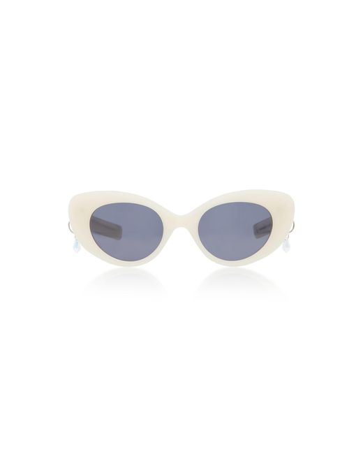 Pared Eyewear | White M'o Exclusive Poms & Pared Acetate Cat-eye Sunglasses | Lyst