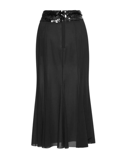 dolce gabbana sequin detail midi skirt in black lyst