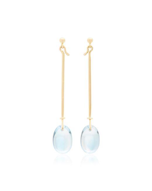 Georg Jensen | Large Vivianna Dew Drop Earrings With Blue Topaz | Lyst